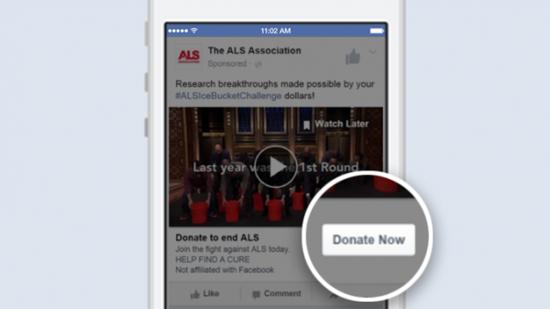 Facebook页面增加捐款功能