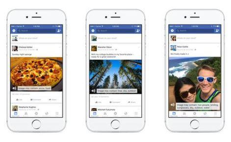 Facebook新功能:视觉障碍患者也能看照片