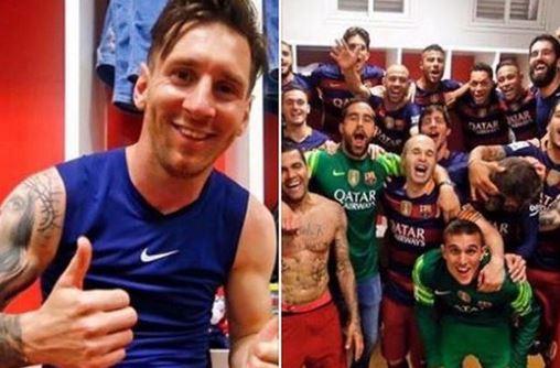 头号球星梅西在Facebook上庆祝夺冠