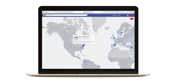 "Facebook直播平台推出""实时地图""功能"