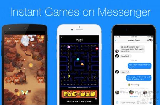 Facebook在聊天应用中加入游戏