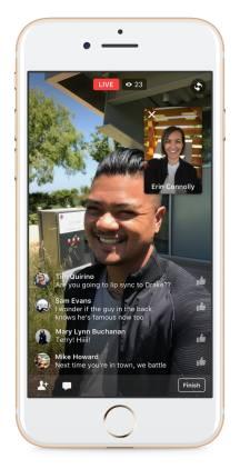 Facebook直播增加AR功能